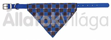 Trixie kendős textil nyakörv S-M-es 20 mm/30-38 cm kék 30882