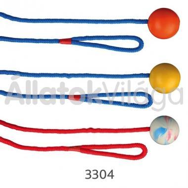 Trixie madzagos gumi labda 5 cm/100 cm-es 3304