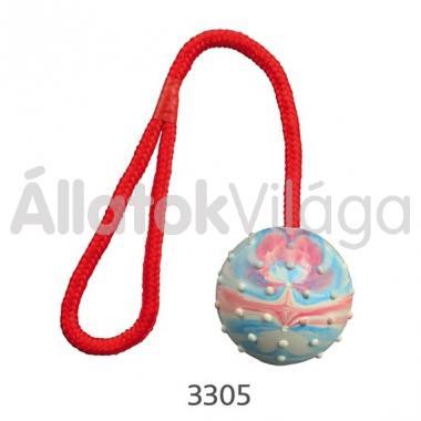 Trixie madzagos gumi labda 6 cm/30 cm-es 3305