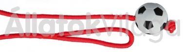 Trixie madzagos foci labda 6 cm/100 cm-es 3307