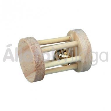 Trixie csörgős fa henger játék rágcsálóknak kicsi 3,5x7 cm-es 6183