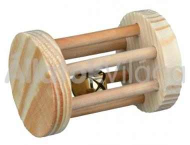 Trixie csörgős fa henger játék rágcsálóknak nagy 5x7 cm-es 6184