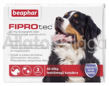 Beaphar FiproTec 402 mg bolha- és kullancsírtó csepp óriástestű (40-60 kg) kutyáknak 3 db-os
