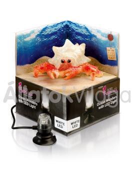 Hydor H2shOw dekoráció Ocean Wonders remeterák + fehér LED