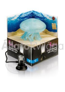 Hydor H2shOw dekoráció Ocean Wonders medúza + kék LED