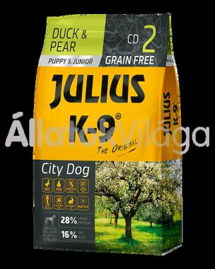Julius K-9 City Dog Duck & Pear Puppy & Junior kölyök kutya eledel kacsa & körte 10 kg-os