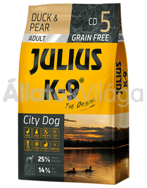 Julius K-9 City Dog Duck & Pear Adult felnőtt kutya eledel kacsa & körte 17 kg-os