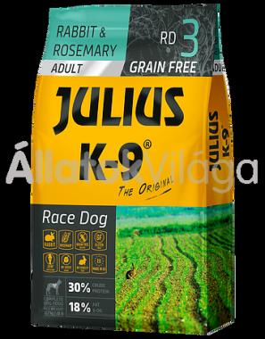 Julius K-9 Race Dog Lamb & Herbals Adult felnőtt kutya eledel nyúl & rozmaring 10 kg-os