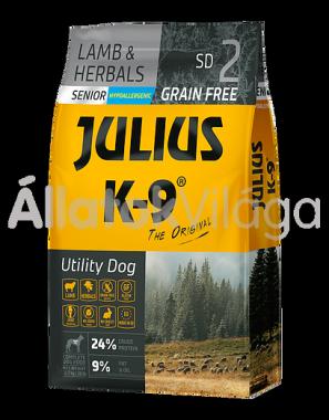 Julius K-9 Utility Dog Lamb & Herbals Senior idős kutya eledel bárány & rozmaring 10 kg-os