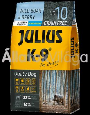 Julius K-9 Utility Dog WildBoar & Berry Adult felnőtt kutya eledel vaddisznó & bogyók 10 kg-os