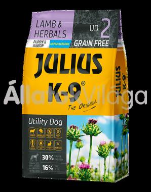 Julius K-9 Utility Dog Lamb & Herbals Puppy & Junior kölyök kutya eledel bárány & rozmaring 10 kg-os