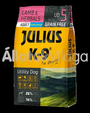 Julius K-9 Utility Dog Lamb & Herbals Adult felnőtt kutya eledel bárány & rozmaring 10 kg-os