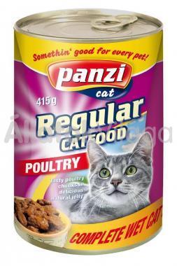 Panzi Regular CatFood Poultry szárnyas konzerv macskaeledel 415 g-os