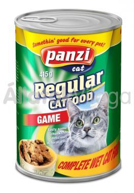 Panzi Regular CatFood Game vadhúsos konzerv macskaeledel 415 g-os