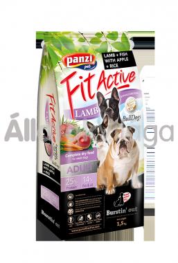 Panzi FitActive Adult-felnőtt BullDogs Lamb & Fish with Apple & Rice kutyaeledel 1,5 kg-os