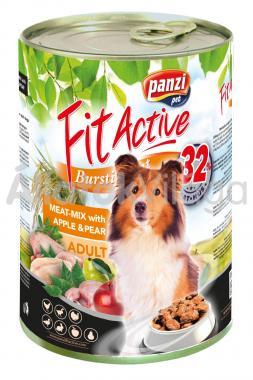 Panzi FitActive Adult-felnőtt Meat-Mix with Apple & Pear konzerv kutyaeledel 1240 g-os