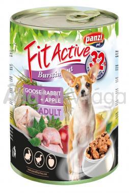 Panzi FitActive Adult-felnőtt Goose-Rabbit + Apple lliba-nyúl + alma konzerv kutyaeledel 415 g-os