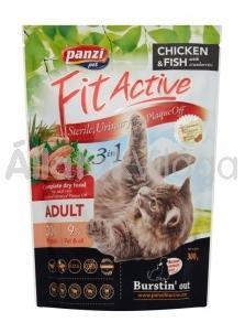 Panzi FitActive 3in1 Adult-felnőtt Chicken&Fish (csirke-hal) macseledel 300 g-os