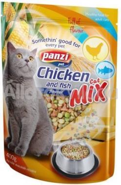 Panzi Cat-Mix Chicken and fish száraz macskaeledel csirke és hal 400 g-os