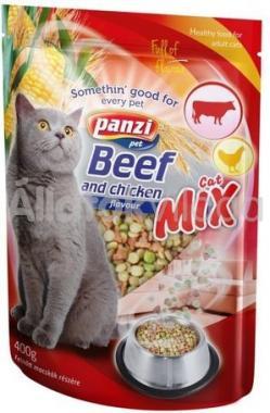 Panzi Cat-Mix Beef and chicken száraz macskaeledel marha és csirke 400 g-os
