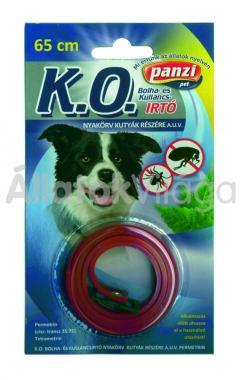 Panzi K.O. Bolha- és kullancsirtó nyakörv kutyáknak 65 cm-es bliszteres piros