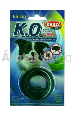 Panzi K.O. Bolha- és kullancsirtó nyakörv kutyáknak 65 cm-es bliszteres fekete