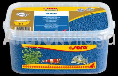 Sera Gravel Blue 2-3 mm-es kék akváriumi aljzat 3 literes