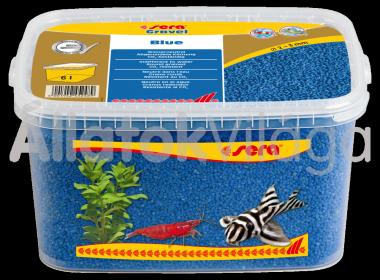 Sera Gravel Blue 2-3 mm-es kék akváriumi aljzat 6 literes
