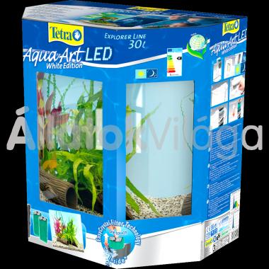 Tetra AquaArt LED Explorer Line Crayfish (rákoknak) akvárium szett 30 literes fehér