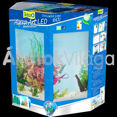 Tetra AquaArt LED Explorer Line Tropical (trópusi) akvárium szett 60 literes fehér