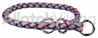 Trixie Cavo textil fojtó nyakörv S-es 12mm/35-41cm kék-piros 13602