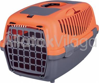 Trixie Capri 2 kutya, macska szállítóbox 37x34x55cm szürke-narancs 39826