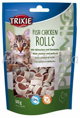 Trixie Premio Fish Chicken Rolls hal - csirke tekercs 50 g-os 42702