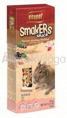 Vitapol Smakers rúd deguknak mogyóróval, gyümölccsel és rózsaszirommal 2 db-os 90 g-os