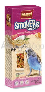 Vitapol Smakers rúd hullámos papagájoknak gyümölcsös 2 db-os 90 g-os