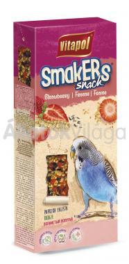 Vitapol Smakers rúd hullámos papagájoknak epres 2 db-os 90 g-os