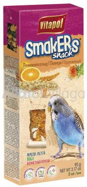 Vitapol Smakers rúd hullámos papagájoknak narancsos 2 db-os 90 g-os