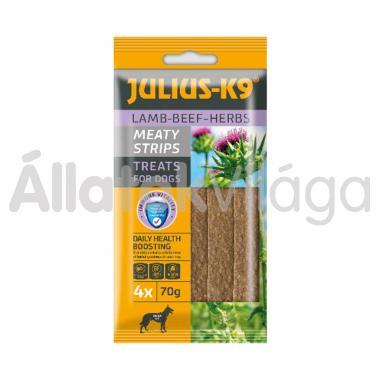 Julius K-9 Meaty Strips Lamb-Beef-Heres bárány-marha-gyógynövénnyel 70 g-os