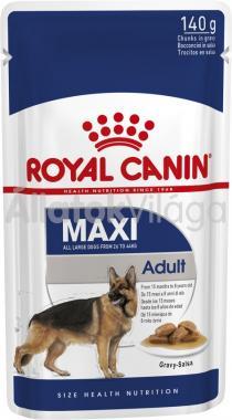 RoyalCanin Maxi Adult Gravy - nagytestű felnőtt kutya szószos nedves alutasakos eledel 140 g-os