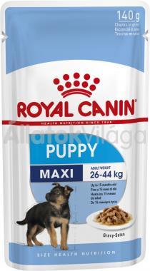 RoyalCanin Maxi Puppy Gravy - nagytestű kölyök kutya szószos nedves alutasakos eledel 140 g-os