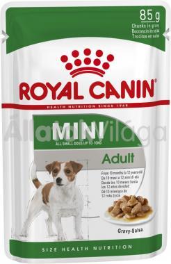 RoyalCanin Mini Adult Gravy - kistestű felnőtt kutya szószos nedves alutasakos eledel 85 g-os
