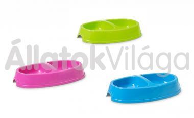 Savic Picnic műanyag etető tál dupla 23,5x13 cm/ 2x0,15 literes 0237