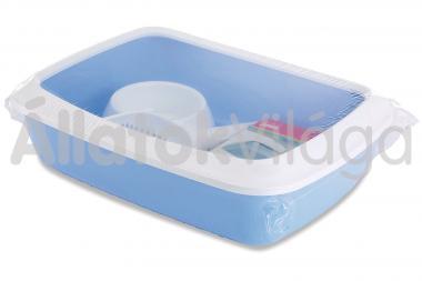 Savic Iriz Starter Kit kezdő cicawc szett fehér - kék 42x31x12,5 cm-es 2002