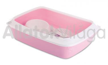 Savic Iriz Starter Kit kezdő cicawc szett fehér - pink 42x31x12,5 cm-es 2002