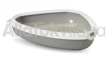 Savic Rincon sarok cicawc fehér - szürke 58,5x39x12,5 cm-es 2017