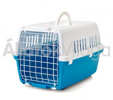 Savic Zephos 1 szállító box fehér-kék 5 kg-ig 48x31,5x30 cm-es 3223