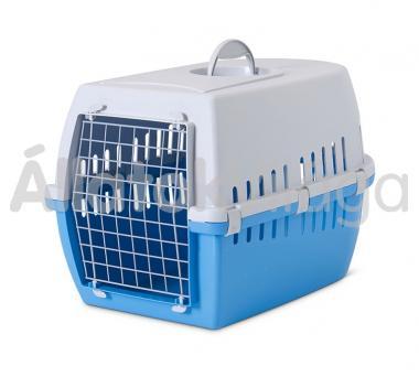 Savic Trotter 3 szállító box világosszürke-kék 10 kg-ig 60,5x40,5x39 cm-es 3262
