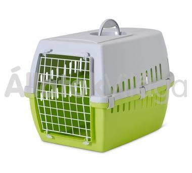 Savic Trotter 3 szállító box világosszürke-zöld 10 kg-ig 60,5x40,5x39 cm-es 3262