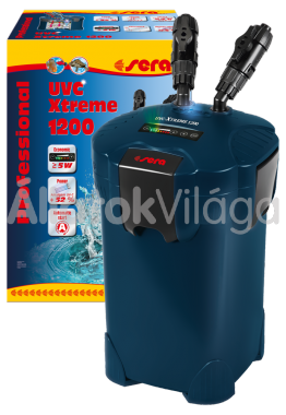 Sera UVC Xtreme 1200 külsőszűrő töltettel 200-1200 literig