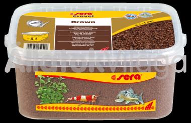 Sera Gravel Brown 2-3 mm-es barna akváriumi aljzat 3 literes